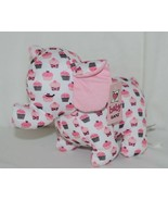 Baby Ganz Brand BG3192 Pink And Brown Ooh La La Plush Cupcake Elephant - $10.99