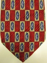 GORGEOUS Robert Talbott Best of Class Red With Blue & Tan Silk Tie - $29.99
