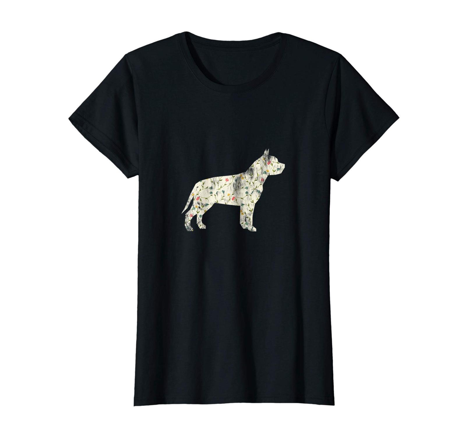 Dog Fashion - Vintage Floral Pitbull Shirt Dog Lover Dog Owner Gift Wowen