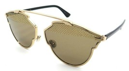 Christian Dior Sunglasses Dior So Real S RHL5V 59-13-140 Gold Black / Brown - $235.20
