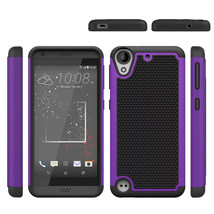 Layer Hybrid Defender Armor Protective Case For HTC Desire 530/630 - Pur... - $4.99