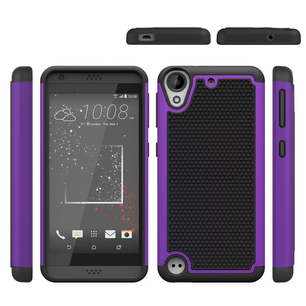 Ual layer hybrid defender armor protective case for htc desire 530 630 purple p20160525162928742
