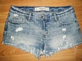Abercrombie & Fitch Distressed Cotton Denim Short Shorts Size 0 - $16.44