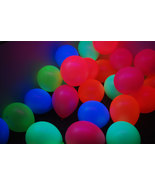 Set of 100 Assorted 11 inch UV Blacklight Reactive Latex Balloons - $29.95