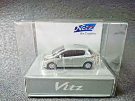 TOYOTA Vitz Yaris Silver Metallic LED Light Keychain Japan Limited - $22.16
