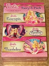 Barbie Fairy 3-Pack : Fairytopia / Mariposa / Thumbelina (DVD, 3-Disc) NEW - $10.99