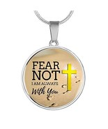 Express Your Love Gifts Fear Not I Am Always with You Stainless Steel-Si... - $49.45