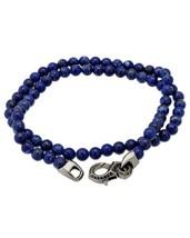 Stephen Webster Thorn double wrap bracelet lapis beads & black sapphire - $367.66 CAD