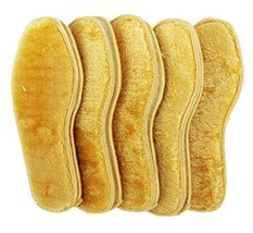 Wool Warm Insoles ,Winter Heated Shoe Insoles,for Men -5 pairs,A4 - $12.89