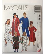McCall's 9635 Size 5 6 Girls' Boys' Robe Tie Belt Nightshift Top Pants B... - $11.64