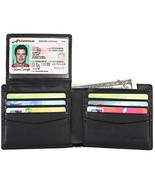 Mens Genuine Leather Bifold Wallet with 2 ID Window and RFID Blocking - ... - $18.41