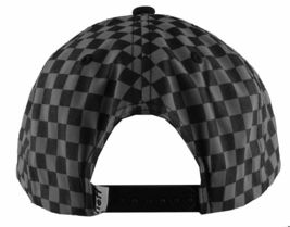 Neff Mens Black/Grey Bogie Checker Adjustable Snapback Hat Cap One Size NEW image 3