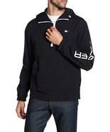 Tommy Hilfiger Taslan Retro Half-Zip Hooded Pullover, Black, Size L, MSR... - $64.34