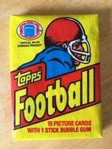 1981 Topps Football Unopened Vintage Wax Pack 15 Cards / Montana RC - $44.99