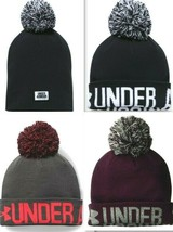 Under Armour ColdGear Womens UA Graphic Pom Beanie 2 in 1 - Colors - 129... - $18.95
