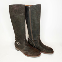 GUCCI Brown Suede Horsebit Tall Riding Boots Womens Size 39.5 EU 9.5 US  - $513.22