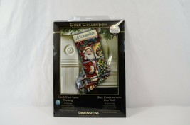 Gold Collection by Dimensions Candy Cane Santa Stocking Kit 8778 NEW - $29.02