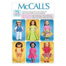 McCall Pattern Company M7106 Clothes for 18-Inch Dolls, One Size Only - $14.21