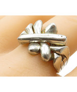925 Sterling Silver - Vintage Wrapped Interwoven Star Ring Sz 7- R3415 - $33.52