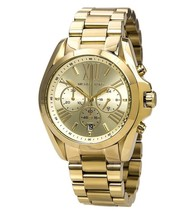 New Michael Kors Bradshaw Gold Chronograph Stainless Steel MK5605 Women'... - $108.85