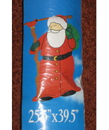 Santa Claus Big Banner Christmas Holiday Outdoor Garden Flag by Jetmax -... - $2.95