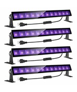 Onforu 4 Pack 24W LED Black Light Bar with Plug and Switch, 5ft Power Co... - $76.99