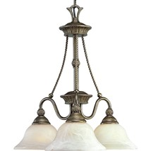 Burnished Chestnut 3 Light Chandelier Pineapple Progress Lighting P4007-86 - $143.99