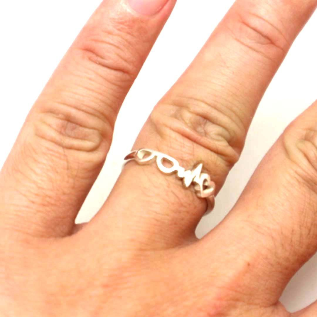 Optometrist Heartbeat Ring