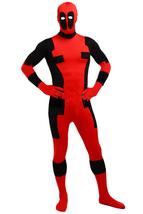 Unisex Deadpool Adult Halloween Jumpsuit Cosplay Costume for Adult Full ... - $49.99