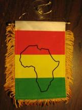 "RASTAFARIAN FLAG MINI BANNER 4""x6"" CAR WINDOW RASTA - $3.95"