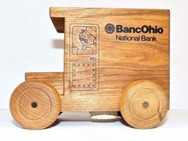 Wooden Bank Truck Coin Bank BancoOhio National Bank Logomobile 1992 - $29.70
