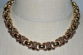 VTG New Old Stock ERWIN PEARL Gold Tone Metal Choker Necklace - $67.32