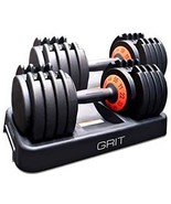 GRIT Elite Adjustable Dumbbell Weights Set 11 to 55 LBS with Fast Dial Switch fo - $689.00