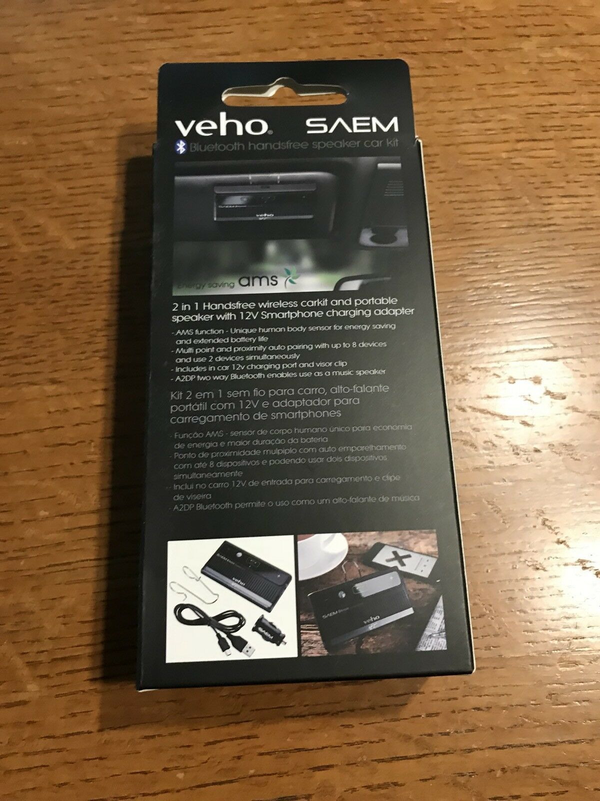 Veho VBC-002-AS SAEM S3 Ayrton Senna Signature Collection Bluetooth Car -NEW