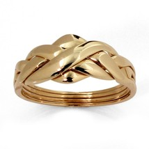 10k Yellow Gold Braided Puzzle Ring - $202.82