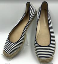 Franco Sarto Women's Ballet Flats Shoes Blue Striped Size 8 Comfy! - $17.98