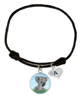 Custom Baby Koala Bear Joey Black Unisex Bracelet Jewelry Gift Choose In... - $14.24