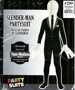 Mens Slender Man Costume Suit Halloween Dress Teens Boys Medium - $39.59