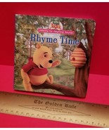 Disney Pooh Hardcover Board Book Rhyme Time Fiction Picture Storybook Wi... - $5.69