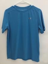 Boy's Under Armour Heatgear Blue Short Sleeve Shirt Size YXL(PRE-OWNED) - $4.99