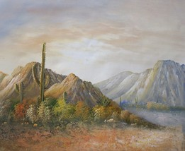 Mountain Desert Solitude 20 x 24 original oil painting on canvas - $79.19