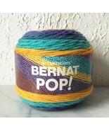 Bernat Pop! Self-Striping Medium Weight Yarn-1 Skein/Ball Gold Rush Rive... - $8.50