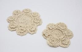 Fennco Styles Handmade 3D Flowers Crochet Lace Cotton Round Doilies - 4-... - $8.99+