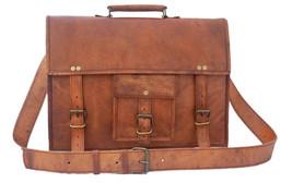 New Brown Rustic Vintage Leather Travel Shoulder Messenger Laptop Office... - $69.78