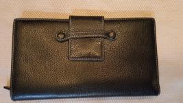 Levenger Leather Bifold Wallet Travel Organizer Clutch Black Color - $35.00