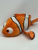 "Disney Store Exclusive Plush Nemo Clown Fish 18"" Large Orange Stuffed An... - $15.35"