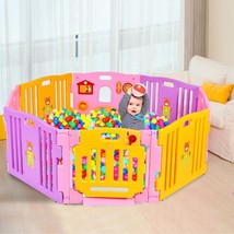Pink 8 Panel Baby Playpen Kids Safety Play Center - $143.89