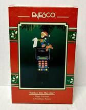1996 Enesco Santa's On The Line Christmas Ornament Plays Various Christmas Music - $20.00