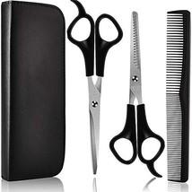 7 Pieces Hair Cutting Shears Barber Scissors Set lat Shears Tooth Shears Comb Ha