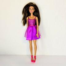 Mattel Barbie Glitz Doll In Purple Dress T7580 Brunette - $8.79